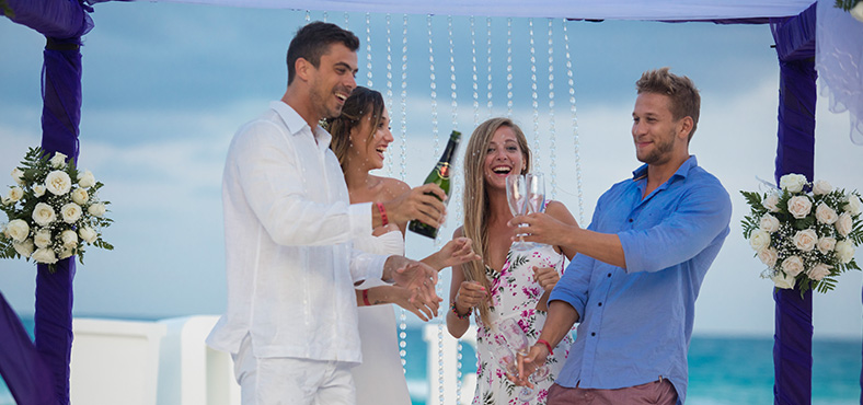 A ceremony right on the beach