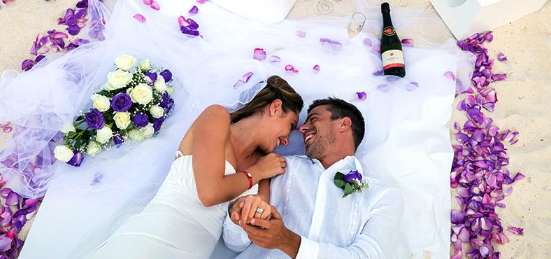 boda y luna de miel en el Caribe