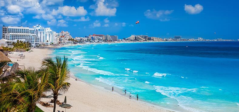 Los impresionantes panoramas de Cancún