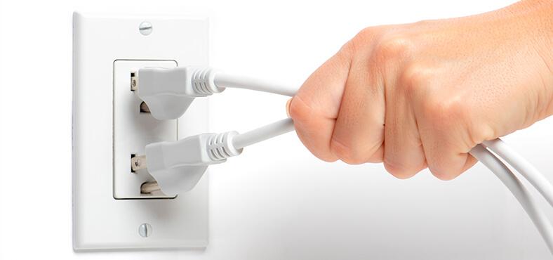 Desconecta tus aparatos